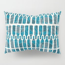 Abstract blue wine bottle pattern Pillow Sham