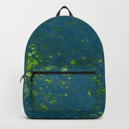 Teal and Green Backpack