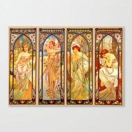 "Alphonse Mucha ""Times of day"" Canvas Print"