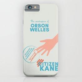 Citizen Kane, minimal movie poster, Orson Welles film, hollywood masterpiece, classic cinema iPhone Case