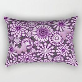 Ceramic Flowers & Butterflies (Acai) Rectangular Pillow