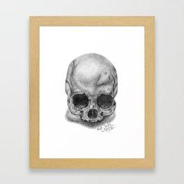 Shadow Skull Framed Art Print