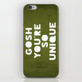 Gosh (Unique) iPhone Skin