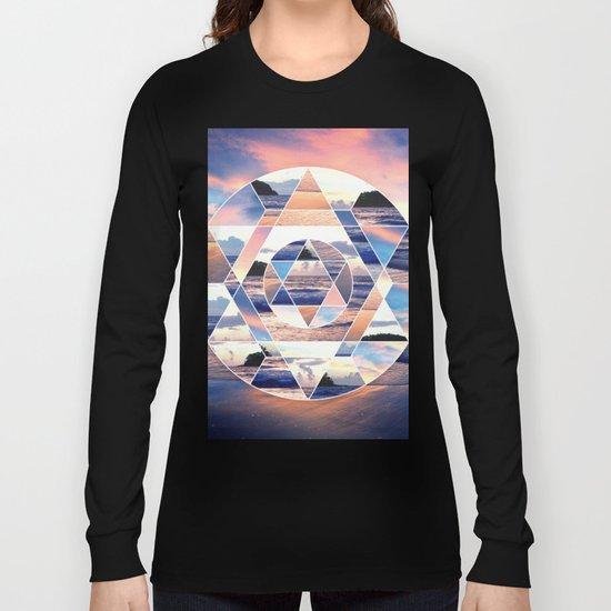 Geometric Ocean Abstract Long Sleeve T-shirt