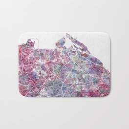 Edinburgh Map Bath Mat