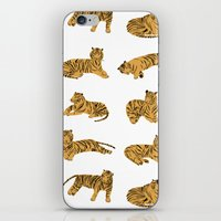tigers iPhone & iPod Skins featuring Tigers by leah reena goren