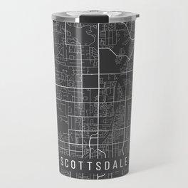 Scottsdale Map, Arizona USA - Charcoal Portrait Travel Mug