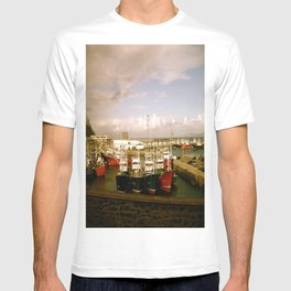 Boats Bobbing in the Blue of the Bay T-shirt