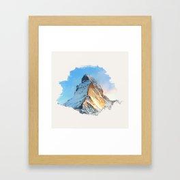 Mountain - Cervino Framed Art Print