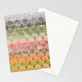 Watercolor art decó pattern Stationery Cards