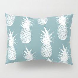Pineapple Pattern - Blue Background Pillow Sham