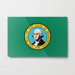 Washington State Flag Metal Print