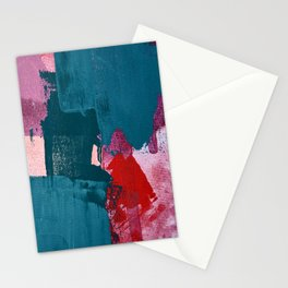 Joy [1]: a vibrant abstract design in purple, red, and teal by Alyssa Hamilton Art Stationery Cards