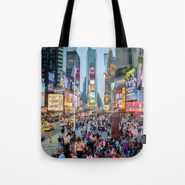 Times Square Tourists Tote Bag