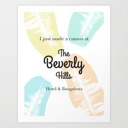 The Beverly Hills Hotel Leaf Art Print