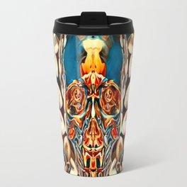 Voodoo Skull Flower Airbrush Travel Mug