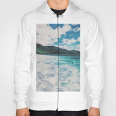 Hawaii Pacific Ocean Surreal Coast (Painting) Hoody