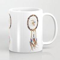 spiritual Mugs featuring Spiritual Dreamcatcher by Bruce Stanfield Photographer