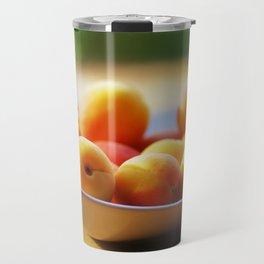 fresh apricots on the table Travel Mug