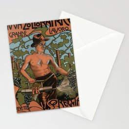 Advertisement nuova zolforatrice a grande lavoro Stationery Cards