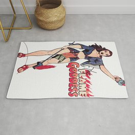 The Flame Goddess Rug