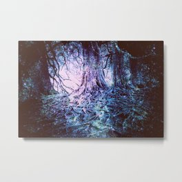 The Wishing Tree : Aqua Lavender Metal Print
