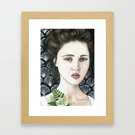 Woman with Corsage Framed Art Print