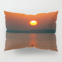 """""""Only"""" the evening sun on the water Pillow Sham"""