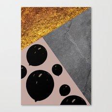 black balloons Canvas Print