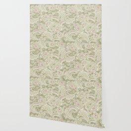batik paisley warm Wallpaper