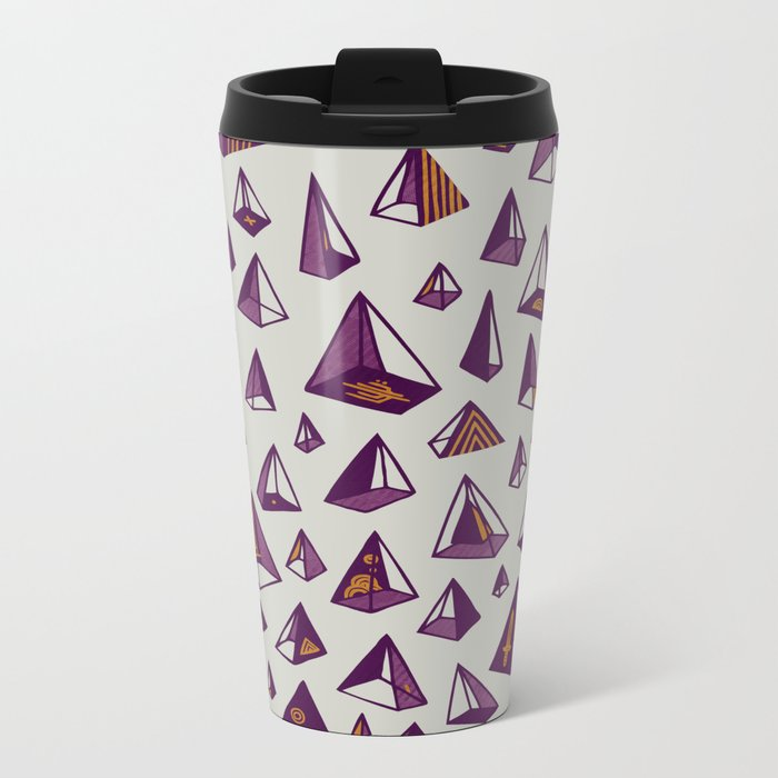 Triangles are my favorite shape Metal Travel Mug