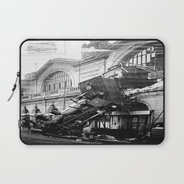The Gare Montparnasse Train Accident - 1896 - France Laptop Sleeve