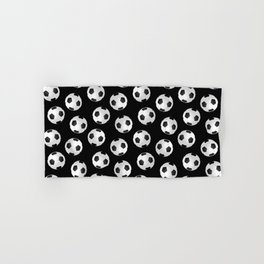 Soccer Ball Pattern-Black Hand & Bath Towel
