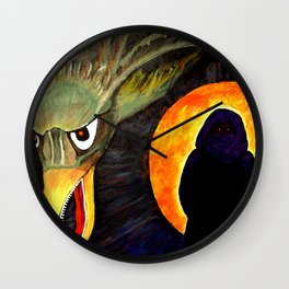 Ruby Red Eyes Wall Clock