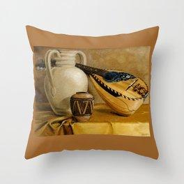 Mandolin At Rest Throw Pillow
