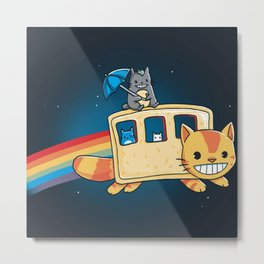 Cat neighbor Metal Print