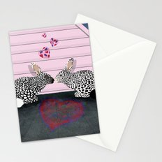Romantic Rabbits Guepard Pattern Stationery Cards