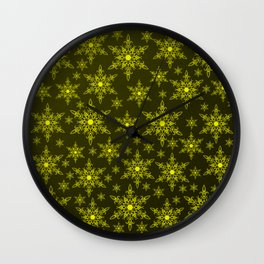gold stars in red background Wall Clock