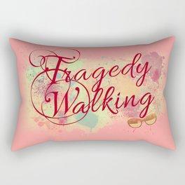 Tragedy Walking Rectangular Pillow