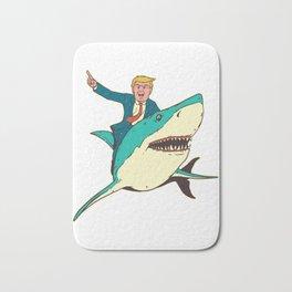 Donald Trump Shark President Shirt 4th of July American Flag T-Shirt Bath Mat