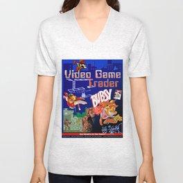 Video Game Trader #14 Cover Design  Unisex V-Neck