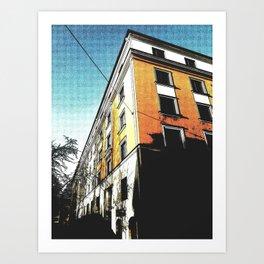 The Orange Building Art Print