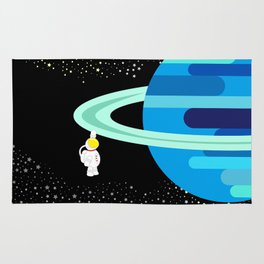 Space Odyssey | Astronaut & Planet | Space | Saturn | Galaxy | pulps of wood Rug