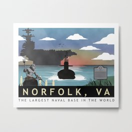 Norfolk, VA - Submarine Homeport Metal Print