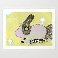 Bunny's rest Art Print