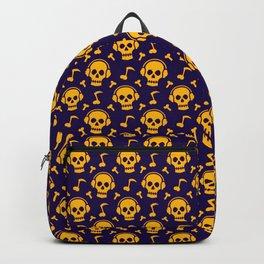 Skull Headphones Pattern Backpack