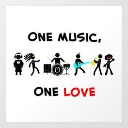 One Music, One Love Art Print