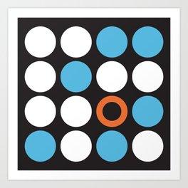 Modern Abstract Dots Art Print