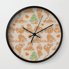 Christmas cookie yoga Wall Clock