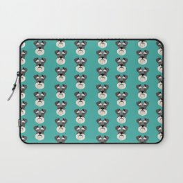 Schnauzers dog head cute pet friendly gifts for dog person with schnauzer Laptop Sleeve